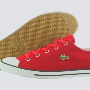 👟Lacoste Red Canvas Sneaker